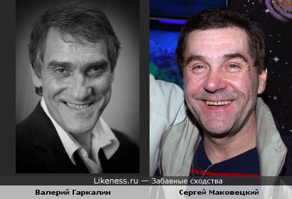Валерий Гаркалин похож на Сергея Маковецкого