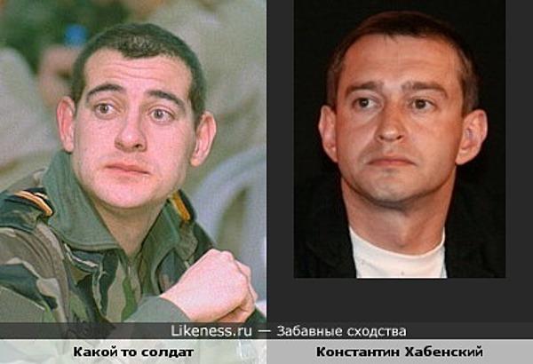 Какой то солдат похож на Константина Хабенского