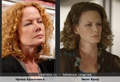 Ирина Бразговка похожа на Эшли Кроу