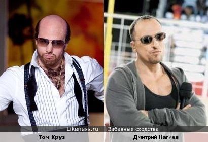 Том Круз в образе и Дмитрий Нагиев