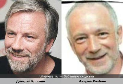 Дмитрий Крылов похож на Андрея Разбаша