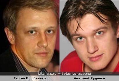 Сергей Горобченко похож на Анатолия Руденко