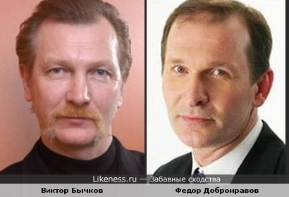 Виктор Бычков похож нп Федора Добронравова