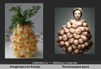 Кондитерское и полногрудая дама