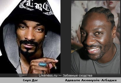 Адевале Акиннуойе-Агбадже и Снуп Дог