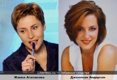Жанна Агалакова и Джиллиан Андерсон