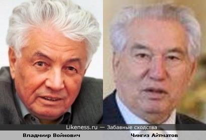 Владмиир Войнович и Чингиз Айтматов
