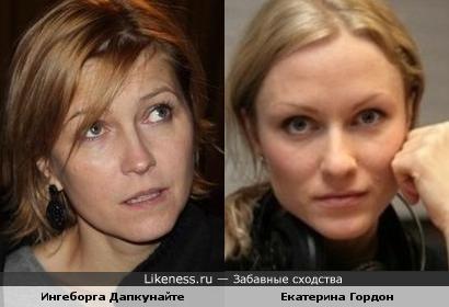Ингеборга Дапкунайте и Екатерина Гордон