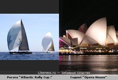 """Регата """"Atlantic Rally Cup."""" и Сидней """"Opera House"""""""