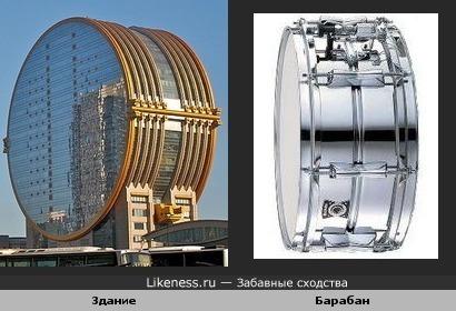 Здание и барабан
