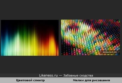 Цветовой спектр, мелки для рисования