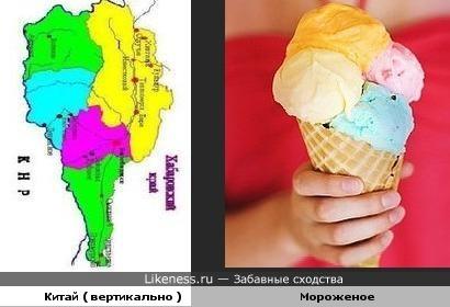 Китай ( вертикально ) и мороженое