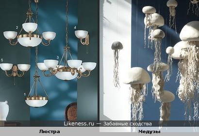 Люстра и медузы