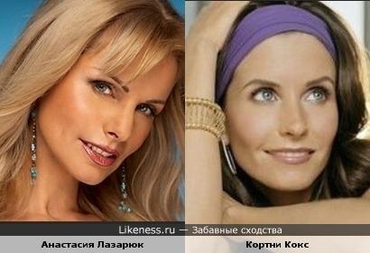 Анастасия Лазарюк и Кортни Кокс