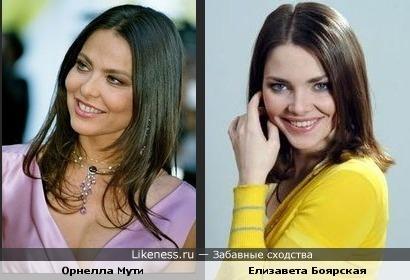 Орнелла Мути и Елизавета Боярская