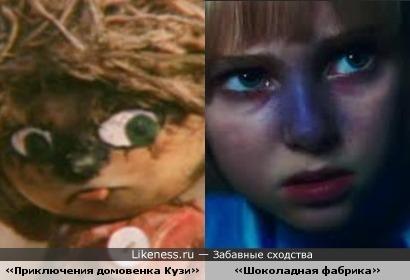 Кузя «Приключения домовенка Кузи» и Девочка «Шоколадная фабрика»