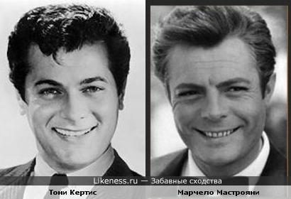 Тони Кертис и Марчело Мастрояни