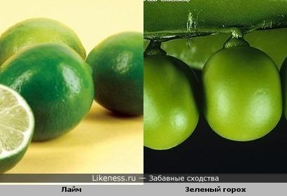 Лайм и Зеленый горох
