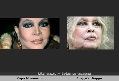Сара Монтьель и Бриджит Бардо
