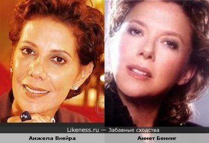Анжела Виейра и Аннет Бенинг