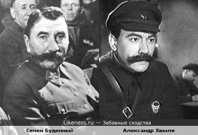 Семен Буденный и Александр Хвыля