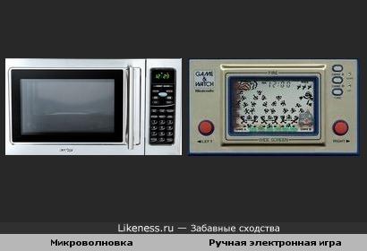 Микроволновка и Ручная электронная игра