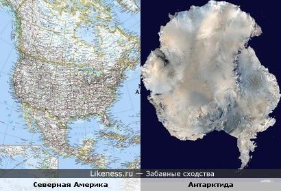Северная Америка и Антарктида