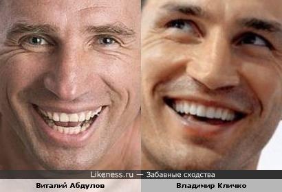 Виталий Абдулов и Владимир Кличко