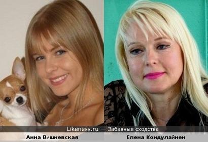 Анна Вишневская и Елена Кондулайнен