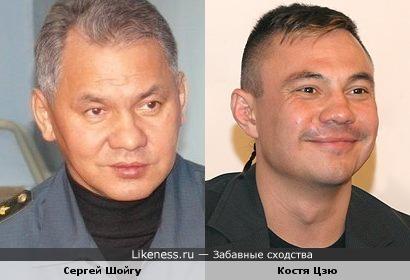 Сергей Шойгу и Костя Цзю