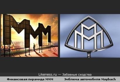 Финансовая пирамида МММ и Эмблема автомобиля Maybach