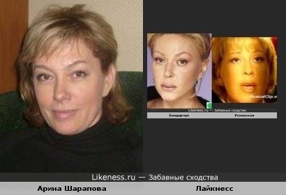 Арина Шарапова и Лайкнесс