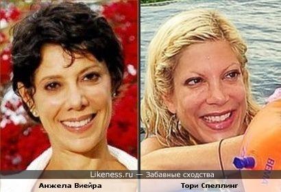Анжела Виейра и Тори Спеллинг