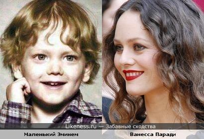 Маленький Эминем и Ванесса Паради