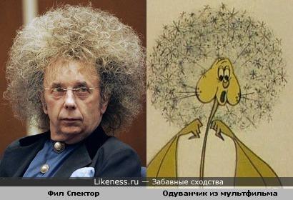 Фил Спектор и Одуванчик из мультфильма