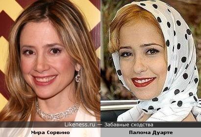 Мира Сорвино и Палома Дуарте
