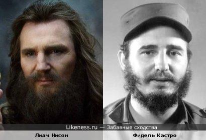 Лиам Нисон и Фидель Кастро