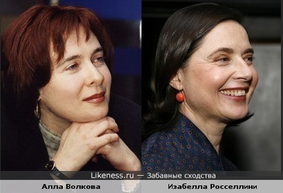 Алла Волкова и Изабелла Росселлини