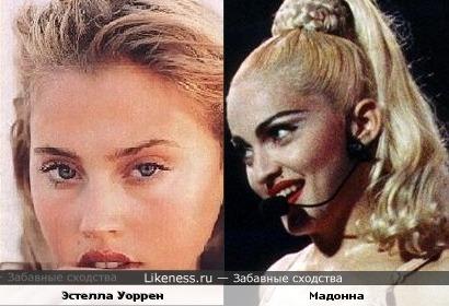 Эстелла Уоррен и Мадонна