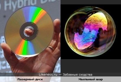 Лазерный диск и Мыльный шар