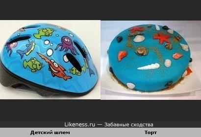 Детский шлем и Торт