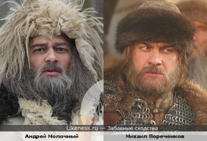 Андрей Молочный и Михаил Пореченков