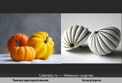 Тыква декоративная и Бижутерия