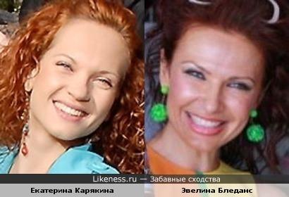 Екатерина Карякина и Эвелина Бледанс