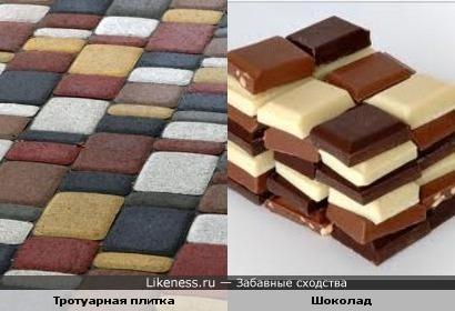 Тротуарная плитка и Шоколад