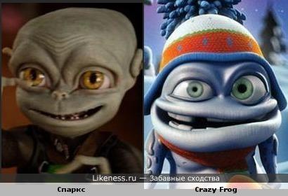 """Спаркс из """"Пришельцы на чердаке"""" чем-то напоминает Crazy Frog'a"""