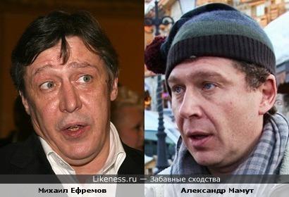 Александр Мамут и Михаил Ефремов похожи