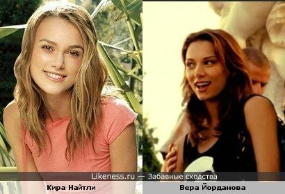Вера Йорданова чем-то напоминает Киру Найтли