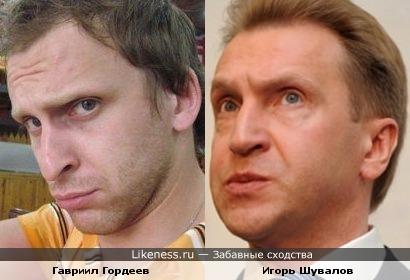 Гавр (резидент Comedy Club) и Игорь Шувалов (первый заместитель Председателя Правительства РФ)