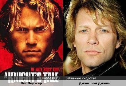 Heath Ledger & Jon Bon Jovi
